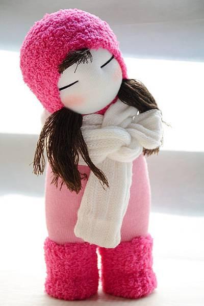 襪子娃娃232號桃紅靴女孩 (2)