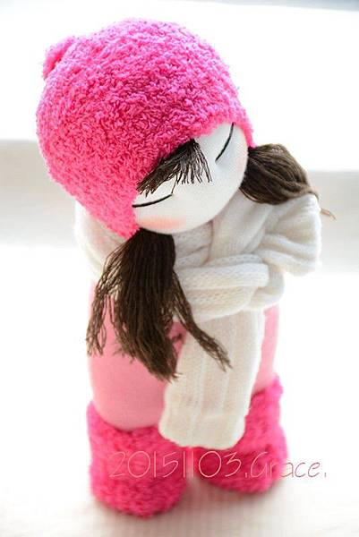 襪子娃娃232號桃紅靴女孩 (3)