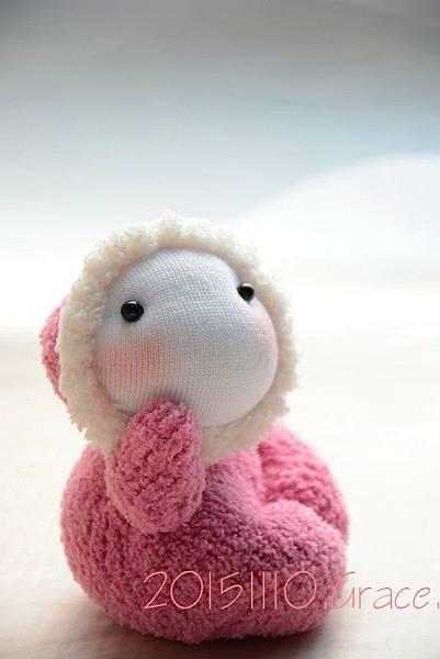 襪子娃娃236號桃紅小貝比 (2)