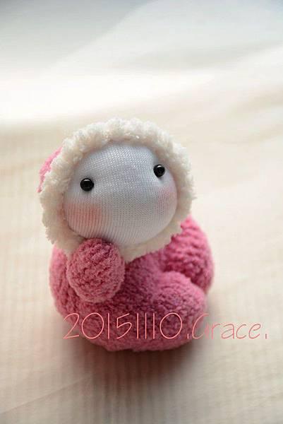 襪子娃娃236號桃紅小貝比 (1)