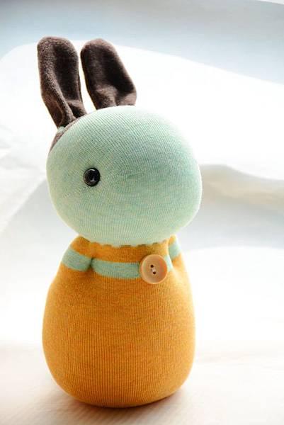 襪子娃娃237號薄荷兔(2)