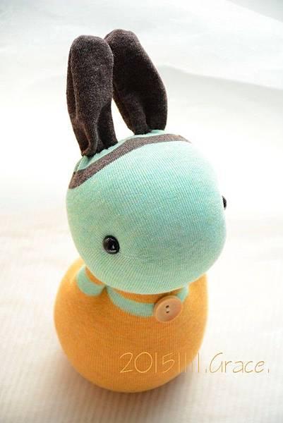 襪子娃娃237號薄荷兔(3)1