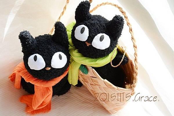 襪子娃娃號大眼黑貓 (2)