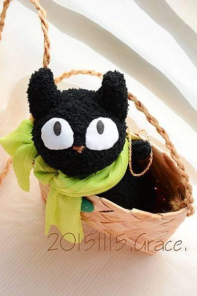 襪子娃娃號大眼黑貓 (1)