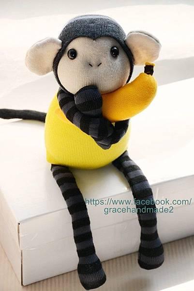 襪子娃娃241號芥末小猴 (1)
