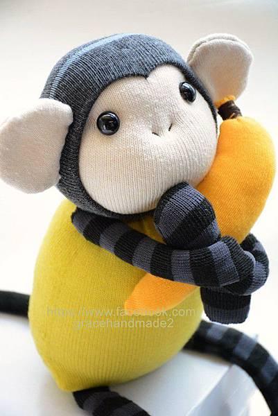 襪子娃娃241號芥末小猴 (3)