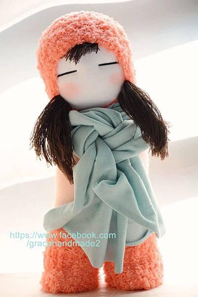 襪子娃娃號櫻桃粉女孩 (2)