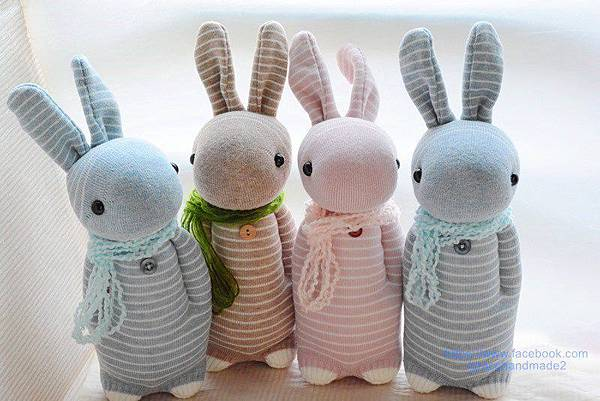 襪子娃娃248+247+245+246號條紋兔