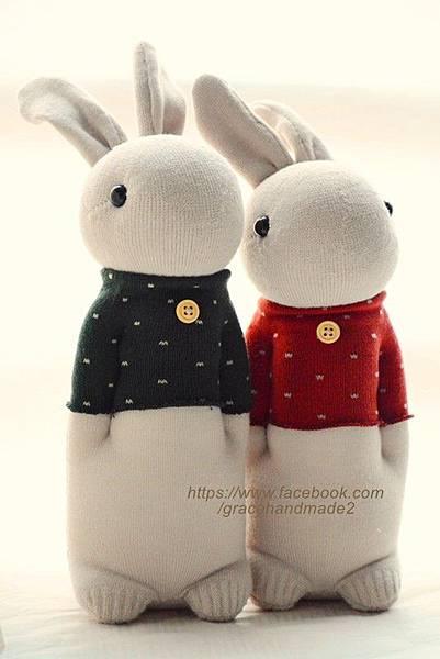 襪子娃娃254+255號點點T兔(2)1