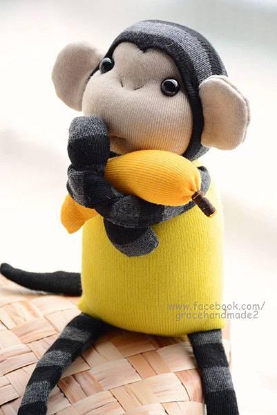襪子娃娃264號檸檬黃小猴 (3)