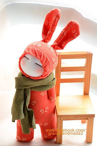 襪子娃娃265號小橘蝶兔裝娃娃 (2)1