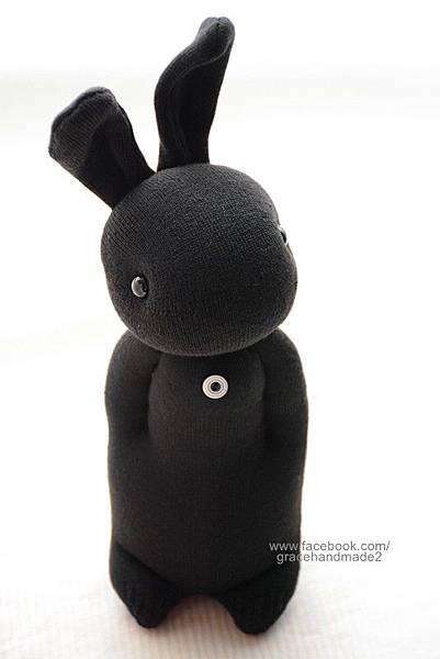 襪子娃娃273號酷黑兔 (1)1