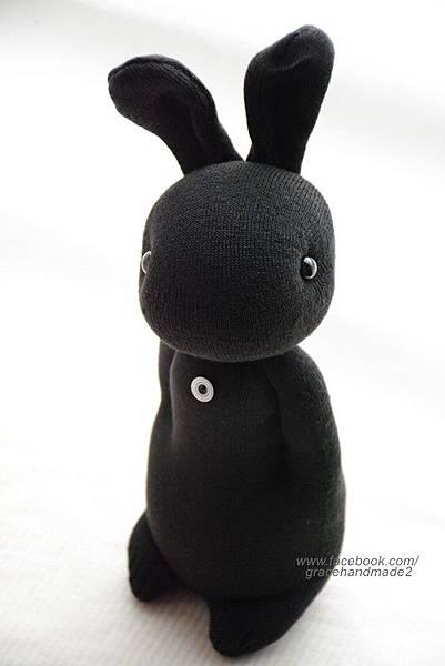 襪子娃娃273號酷黑兔 (2)1
