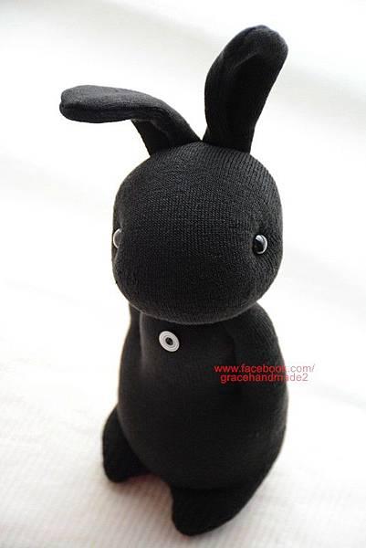 襪子娃娃273號酷黑兔 (4)1