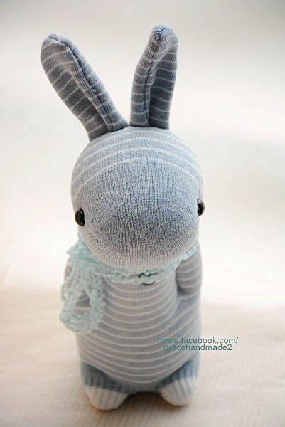 襪子娃娃283號條紋兔1