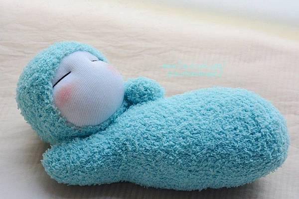 襪子娃娃300號水藍護腕寶寶1
