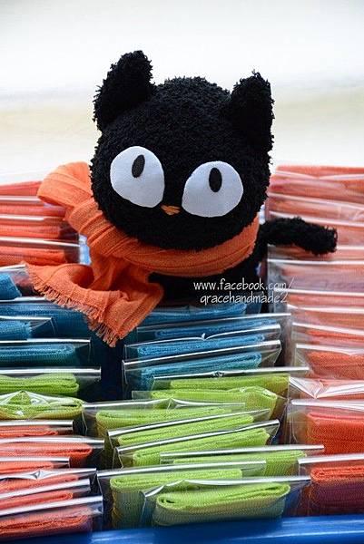 襪子娃娃301號大眼黑貓 (1)