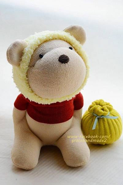 襪子娃娃302號蜂蜜熊 (1)1
