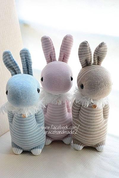 襪子娃娃305+306+307號抽奬條紋多米兔