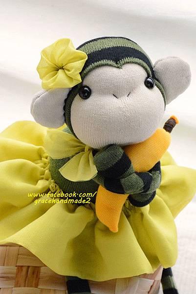 襪子娃娃320號綠裝小猴妹 (2)1