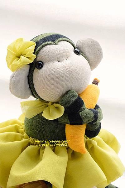襪子娃娃320號綠裝小猴妹 (3)1