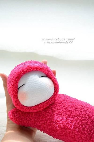 襪子娃娃322號桃紅護腕寶寶 (6)