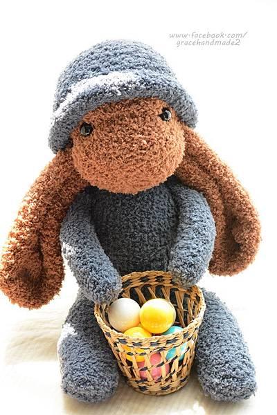 襪子娃娃324號長耳棕兔 (1)