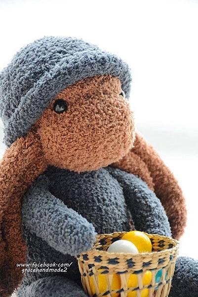 襪子娃娃324號長耳棕兔 (2)
