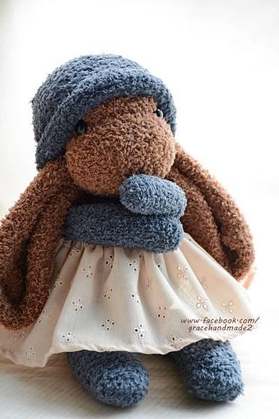 襪子娃娃324號長耳棕兔 (4)