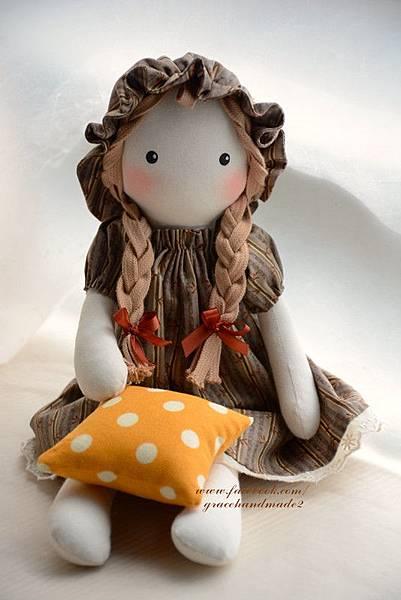 45號自然風手作布娃娃Amy小艾咪 (7)