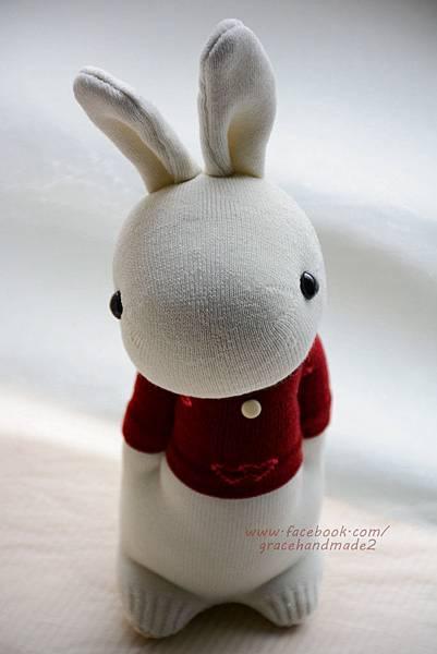 襪子娃娃331愛心T情侶多米兔