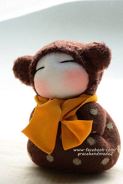 襪子娃娃334號小小米粟鼠 (2)
