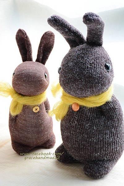 襪子娃娃335+336號麻粟多米兔1