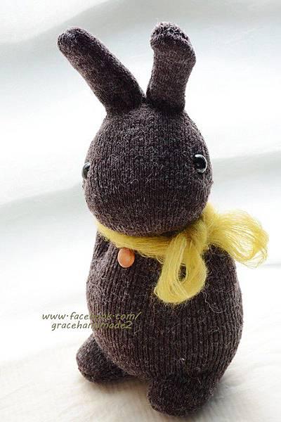 襪子娃娃335號麻粟多米胖兔1