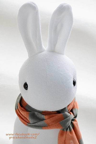 襪子娃娃337號白多米兔 (5)