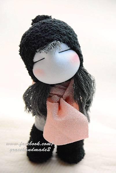 襪子娃娃341號黑靴女孩 (2)