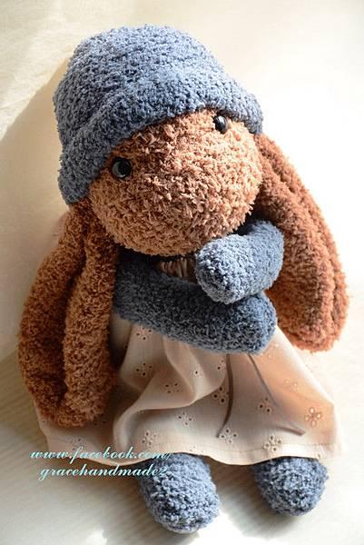 襪子娃娃348號榛果垂耳兔 (3)
