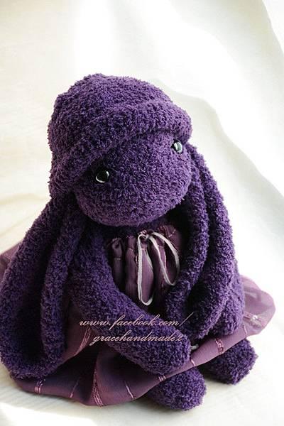 襪子娃娃350號紫米垂耳兔 (2)1