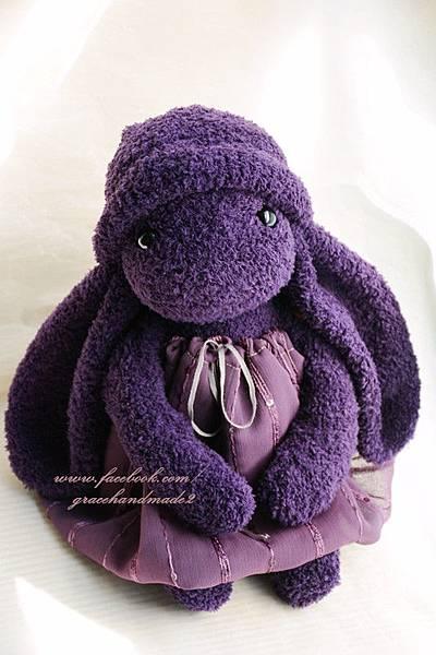 襪子娃娃350號紫米垂耳兔 (4)1