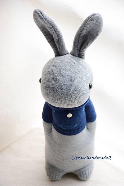 襪子娃娃354號T恤灰兔 (2)