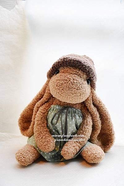 襪子娃娃356號冷豆綠水玉拿鐵 (1)