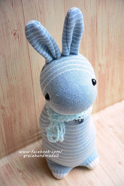 襪子娃娃357號條紋多米兔