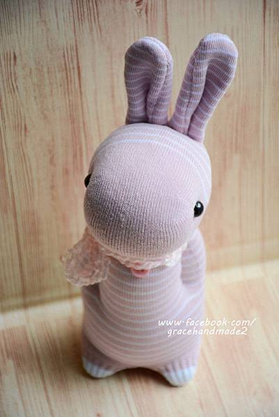 襪子娃娃358號條紋多米兔