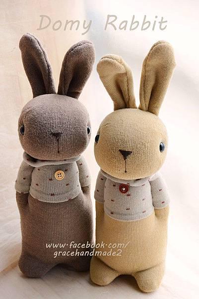 襪子娃娃359+360號點點T褐色多米兔