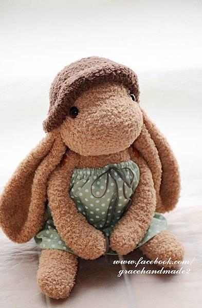 襪子娃娃356號冷豆綠水玉拿鐵 (2)