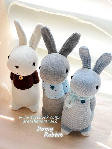 襪子娃娃361+362+363號多米兔 Domy Rabbit