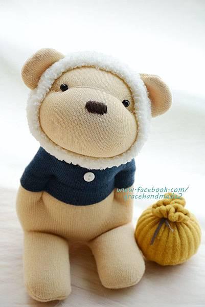 襪子娃娃367號白蜂蜜熊 (1)
