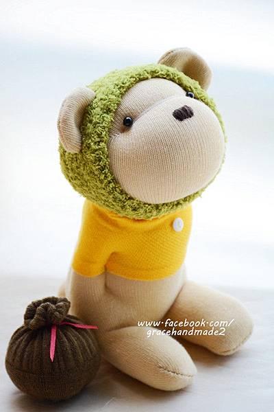 襪子娃娃368號綠蜂蜜熊 (2)