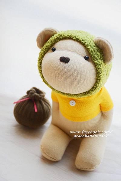 襪子娃娃368號綠蜂蜜熊 (1)