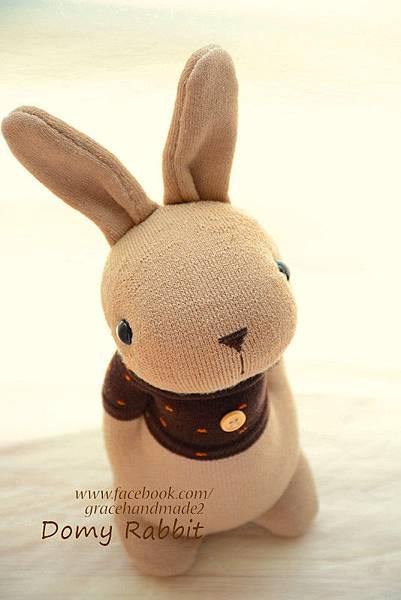 襪子娃娃371號點點T棕色多米兔 (3)1